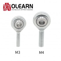 M3 M4 Fisheye Bearings 3D Printers Parts Rod Ends Joint Thread Aluminum SI4T/K SI3T/K Fish Eye Part Fisheyes Accessory