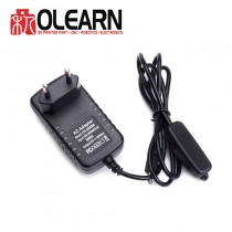 Olearn 5V 3A Power Supply Charger AC Adapter Micro USB Cable with Power On/Off Switch Plug For Raspberry Pi 3 banana