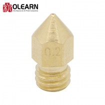 OLEARN 3D Printer Part MK8 MK7 Brass Nozzle Pointed Type